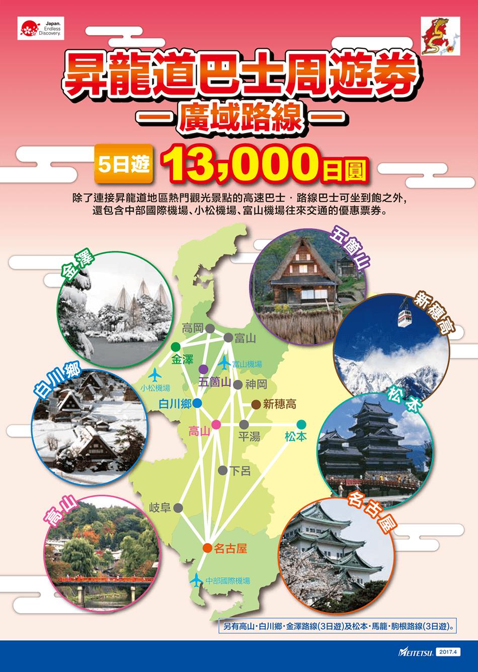 昇龍道高速巴士票卷13000