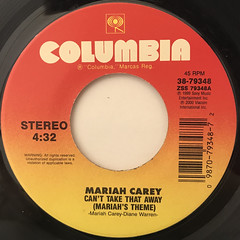 MARIAH CAREY:CAN'T TAKE THAT AWAY(MARIAH'S THEME)(LABEL SIDE-A)