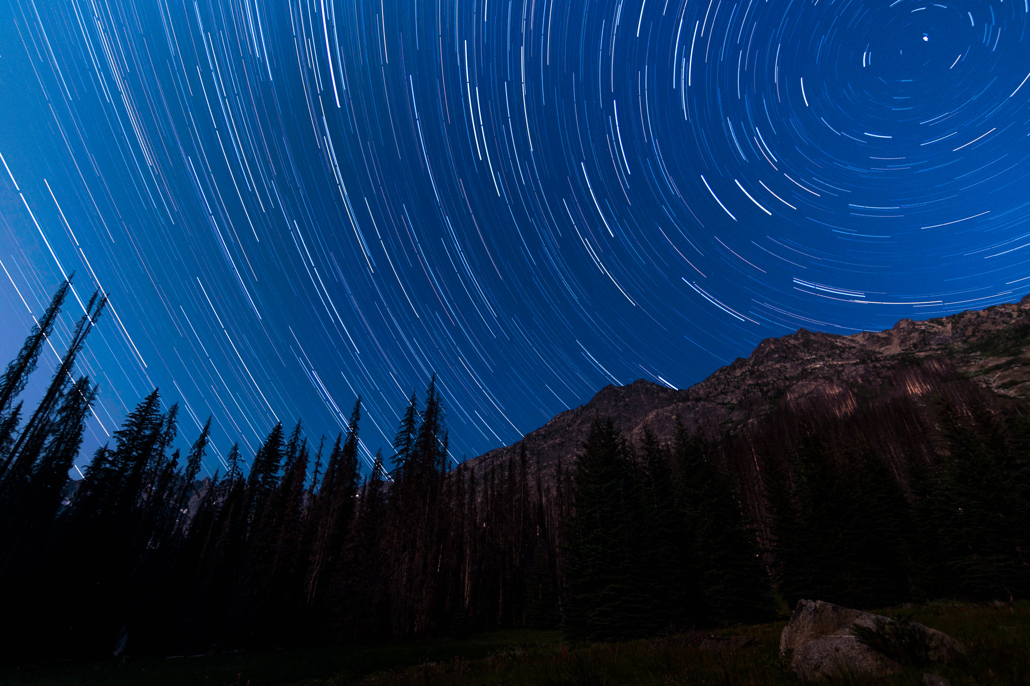 North Star over Buckskin Mountain