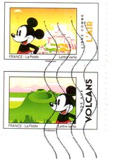 French Mickey Mouse Stamps - Photo of Buswiller