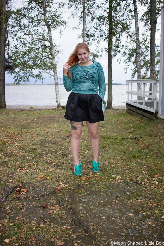 Numph neulepaita, minihame, Parikan kengät, Minna Parikka Blanche- kengät, tyylibloggaaja Joensuu, Joensuu, Koivuniemi, syksyn muoti 2018, syysmuoti