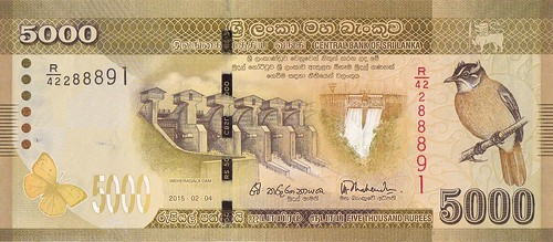 Sri Lanka 5000 note
