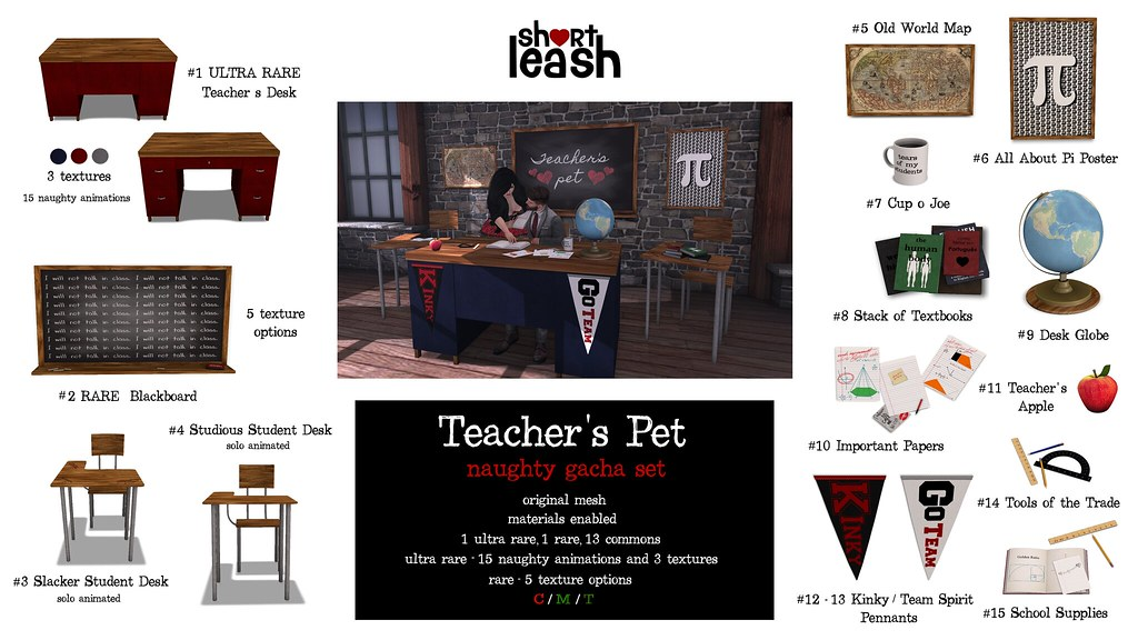 .:Short Leash:. Teacher's Pet Gacha - TeleportHub.com Live!