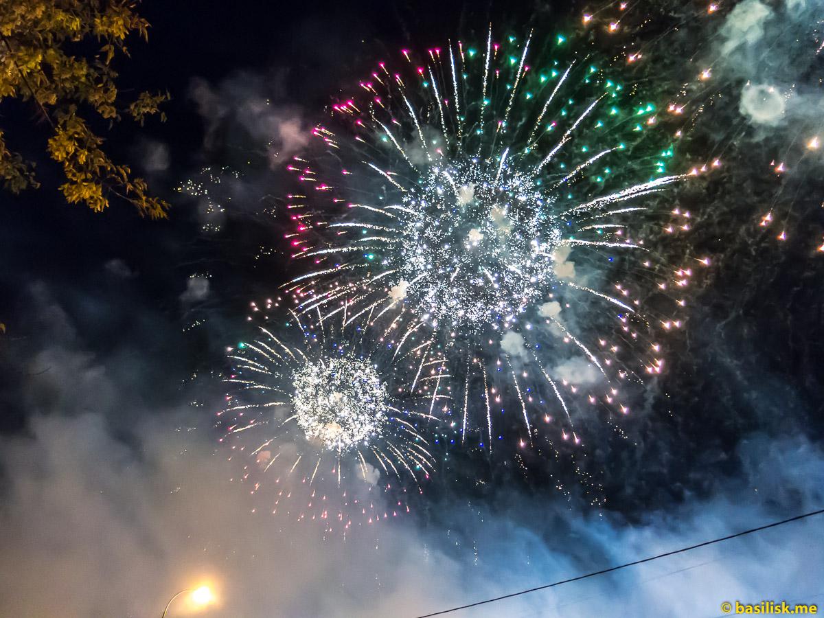 Московский фестиваль фейерверков. Марьино. 19 августа 2018