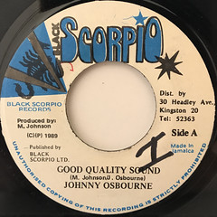 JOHNNY OSBOURNE:GOOD QUALITY SOUND(LABEL SIDE-A)