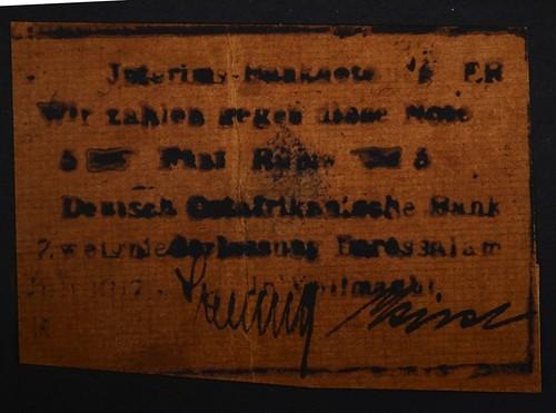 1917 German East Africa 5 Rupie Emergency Note