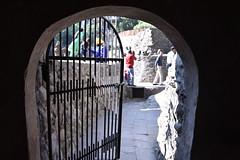 Another low doorway inside the Rock Garden