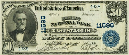 1902 East St. Louis $50 National Bank Note