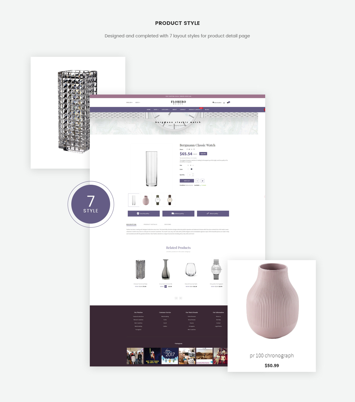7+ product detail page layouts-pagebuilder-vase free template