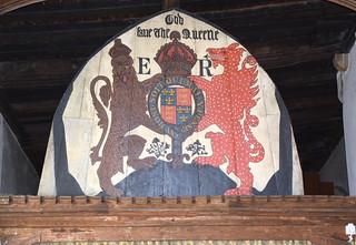 'God save the Queene': Elizabeth I royal arms