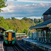 Evening Arrival at Oxted, England Train Station