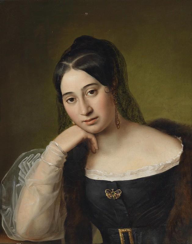 Natale Schiavoni (circle) - Bildnis einer nachdenklichen Dame