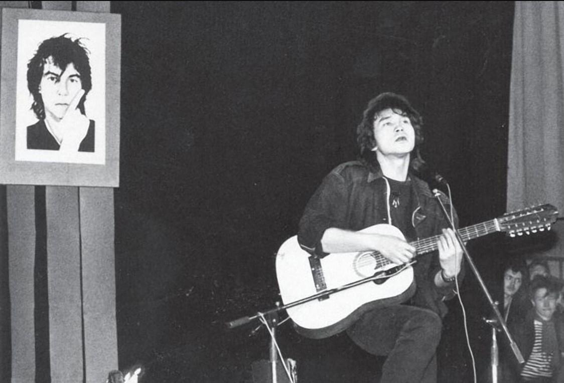 Виктор Цой на концерте памяти Александра Башлачева. Февраль 1988