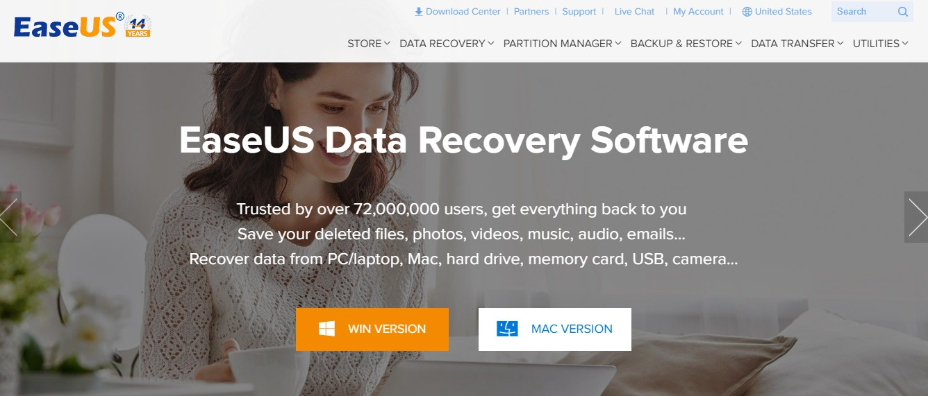 EaseUS Data Recovery Wizard – Phần mềm phục file miễn phí