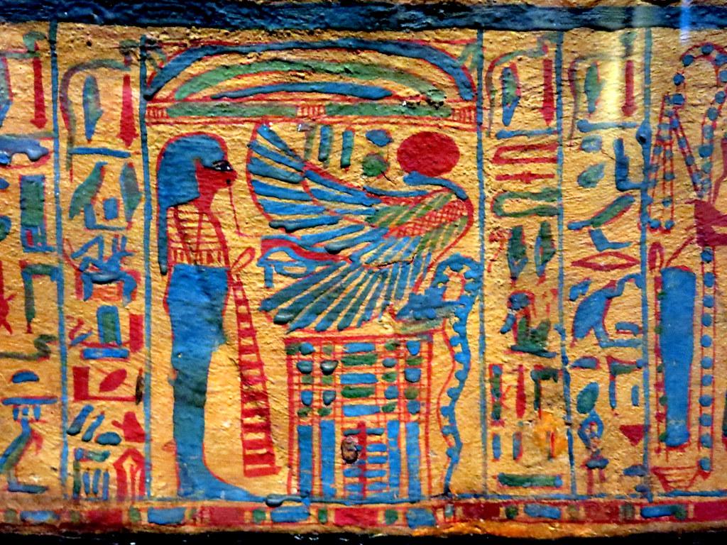 decoración en un sarcófago egipcio