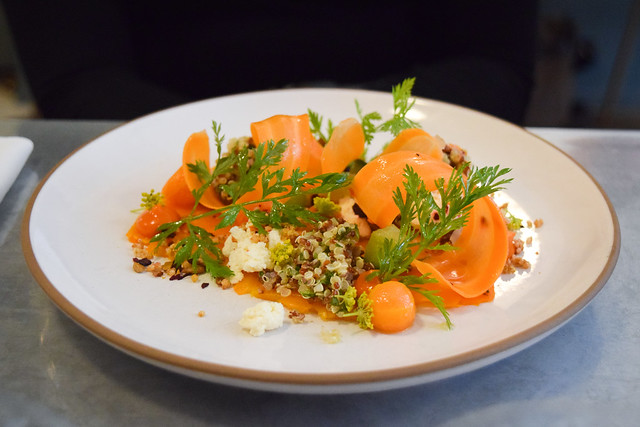 Carrot Carpaccio at Frenchie, Covent Garden