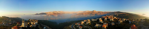 seaofcloud clouds mountains trees panorama valley kadeechavalley kadeecha wadykannoubine thevalleyofsaints lebanonnorthmountainsregion haddetheljebbe bicharre