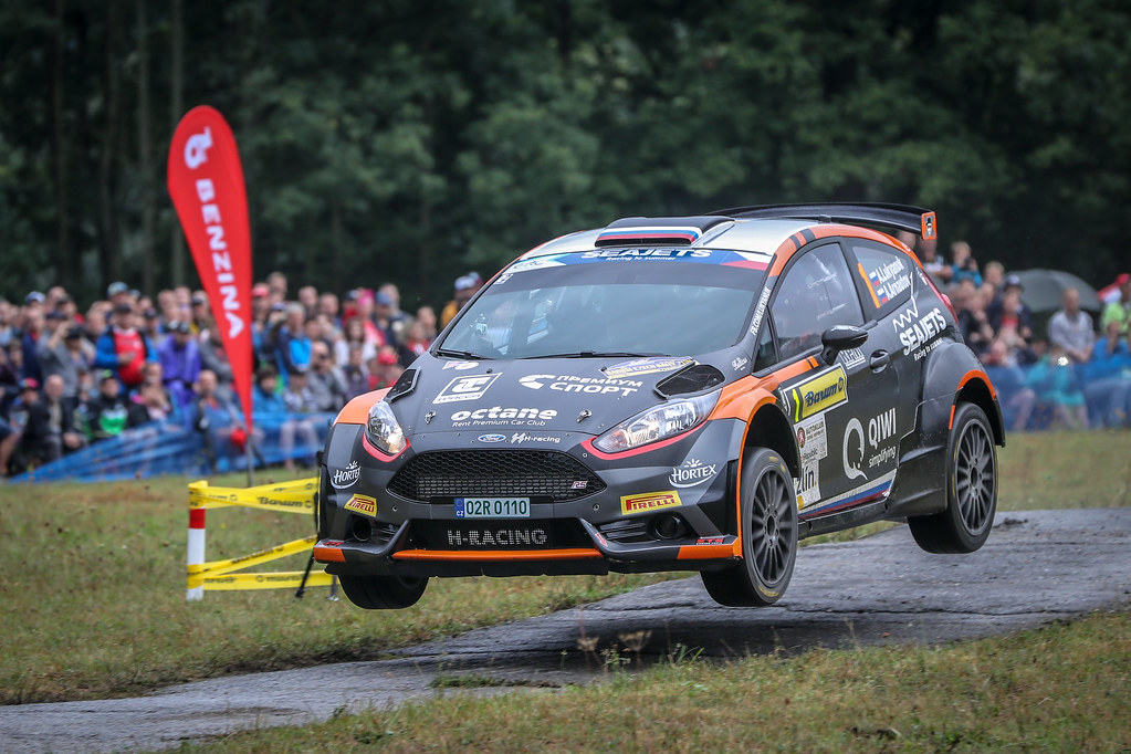 01 Lukyanuk Alexey, Arnautov Alexey, RUS/RUS, Russian Performance Motorsport, Ford Fiesta R5, Action during the 2018 European Rally Championship ERC Barum rally,  from August 24 to 26, at Zlin, Czech Republic - Photo Alexandre Guillaumot / DPPI