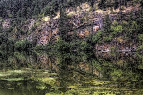 canada britishcolumbia penticton yellowlake mountains reflection hdr okanagan