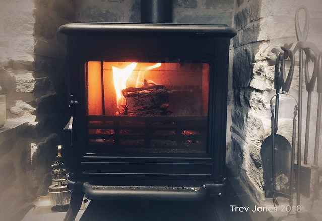 We've Had To Light Our Woodburner