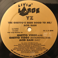 YZ:THE GHETTO'S BEEN GOOD TO ME(LABEL SIDE-B)