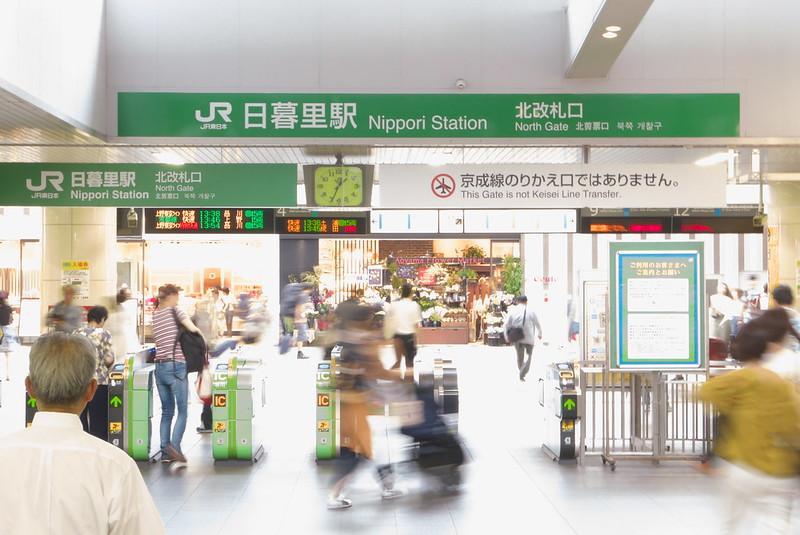 日暮里駅のスタンプ