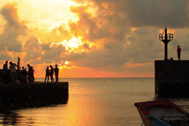 漁港夕陽, Canon EOS 500D, Canon EF 70-200mm f/4L