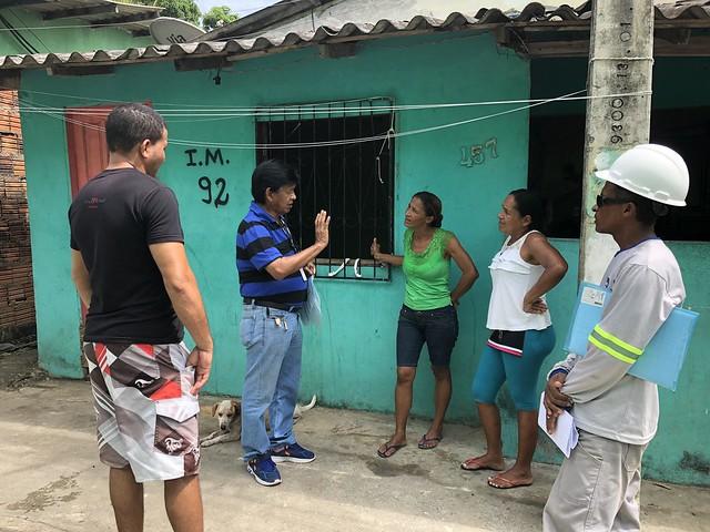 11-09-19 Ageman vistoria ampliação de rede de água no bairro Cidade de Deus.