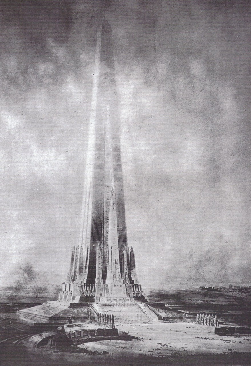 Projected Beacon of Progress tower around 1900, Chicago