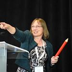 IJPDS founding Editor-in-Chief, Kerina Jones, during her Science Slam presentation.