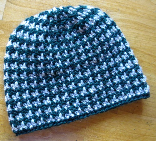 Green Houndstooth Wool Hat