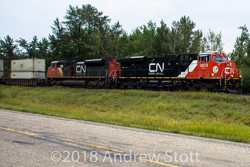 emd 3819 canadiannationalrailway es44ac cnr alberta train sd70m2 cn locomotive electromotivedivision generalelectric 8931 ge parklandcounty canada ca