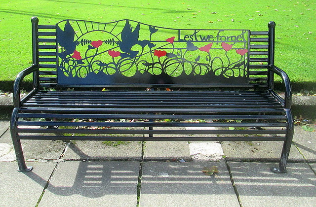 Rochdale War Memorial Bench