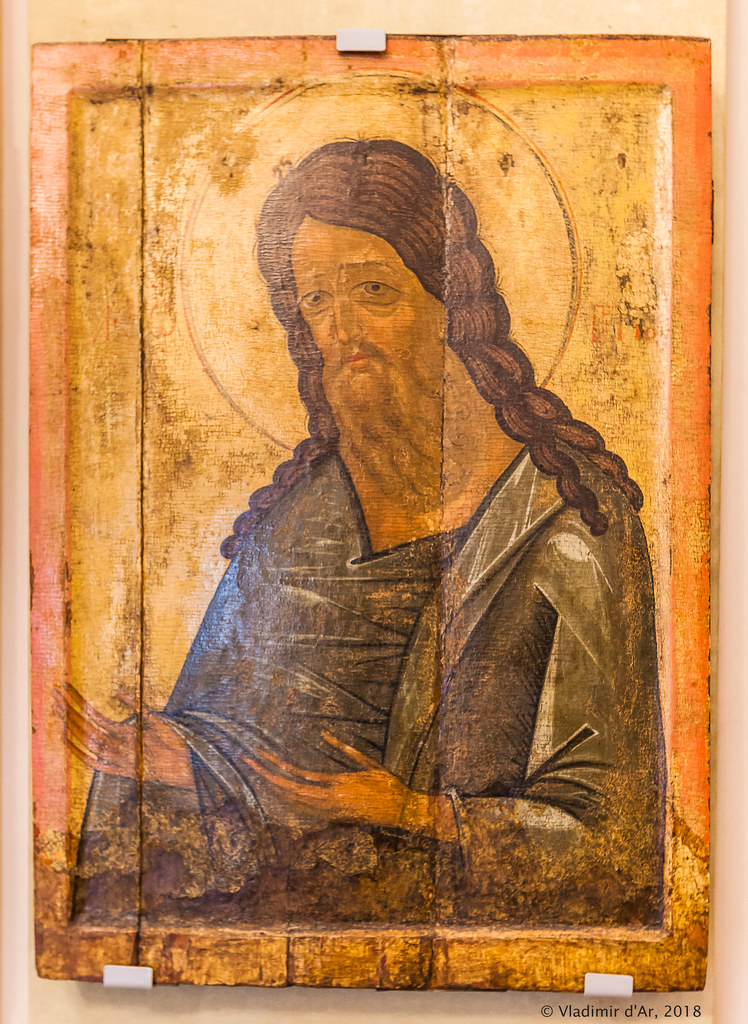 Св. Иоанна Предтеча из Деисусного чина храма в селе Ободово Тверской области.