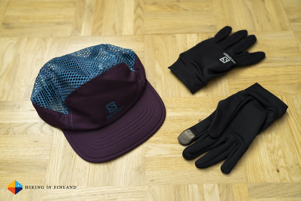 Salomon Air Logo Cap and Active Gloves