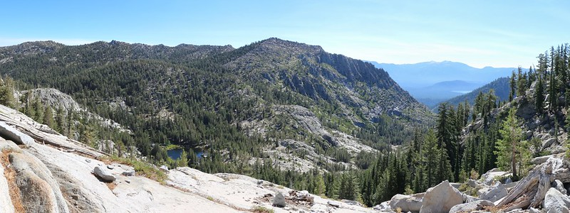 One last view of Jakes Peak and the Grouse Lakes from the Tahoe-Yosemite Trail as we near Phipps Pass