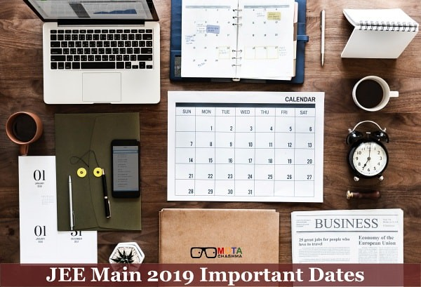JEE Main Important dates