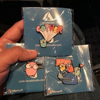 GopherCon 2018 Azure Pins