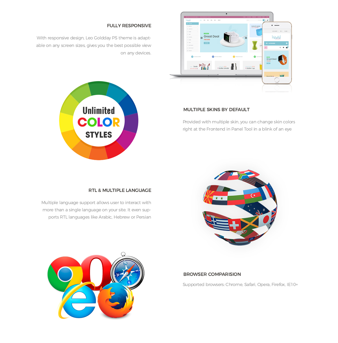 prestashop 1.7 theme features - Digital template