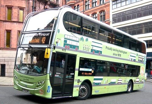 YP63 WFC 'Nottingham City Transport, No. 603 'Proudly serving Nottingham since 1878'. Scania N230UD / Alexander Dennis Ltd. Enviro 400 /1 on Dennis Basford's railsroadsrunways.blogspot.co.uk'