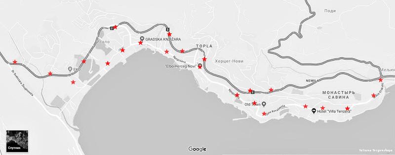 Карта с остановками
