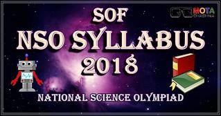 NSO Syllabus 2018