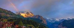Rainbow over the Swiss Alps