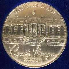 Ronald Reagan Medal Of Merit obverse
