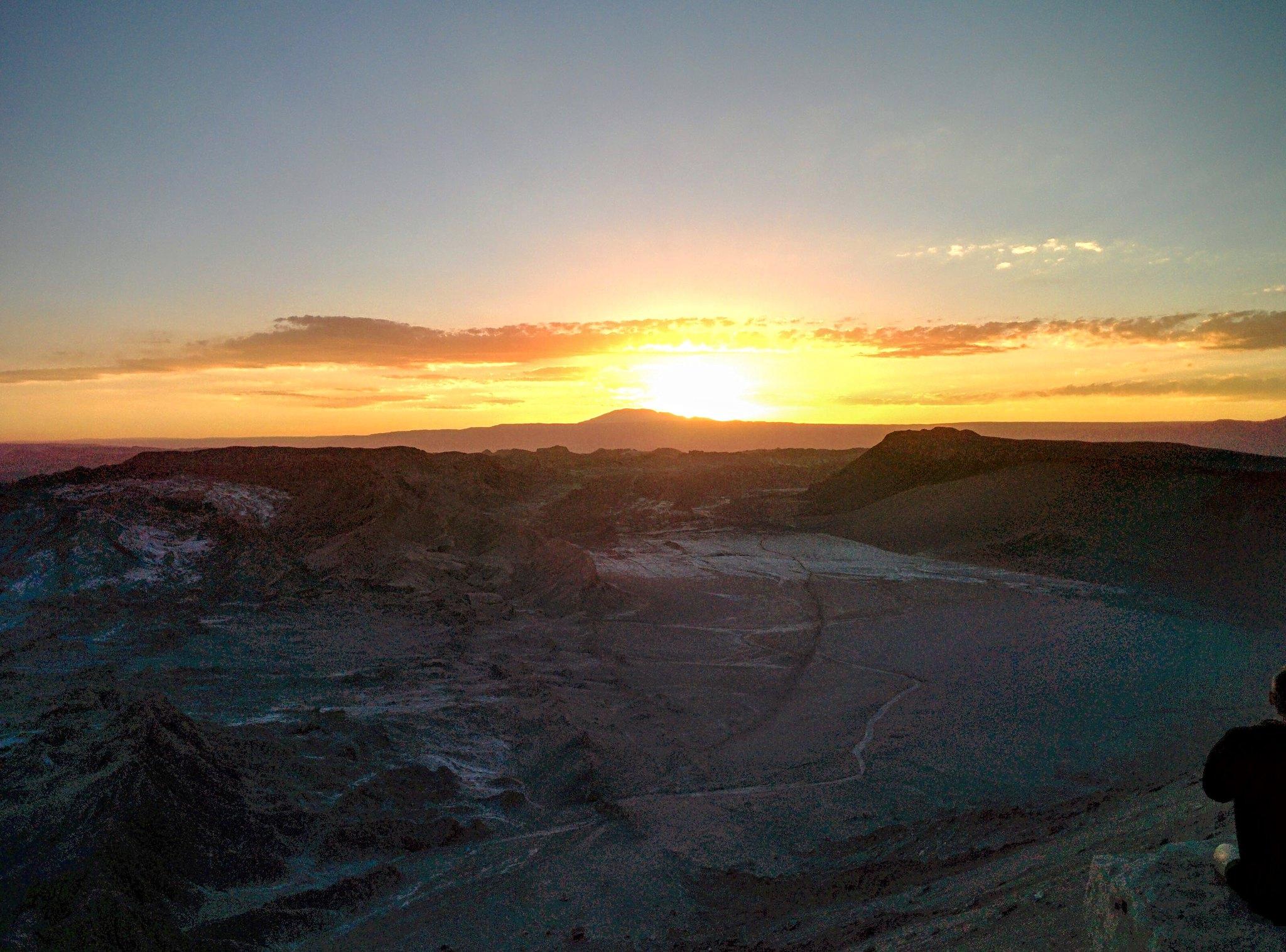 Sunset over the Atacama