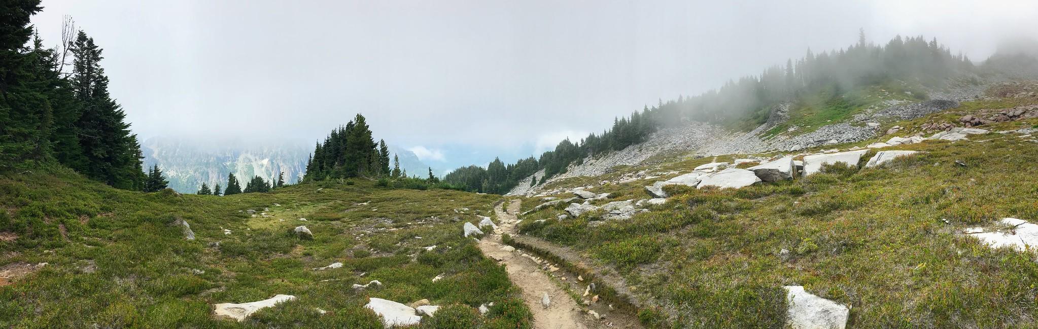 Descending to Cataract Valley