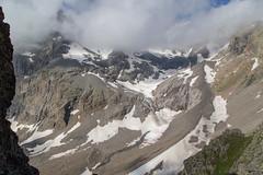 Vue au nord depuis le col des Grangettes (2684m)