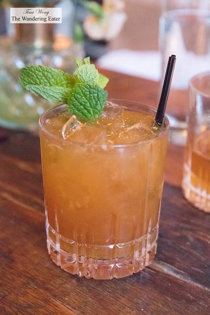 Oh the Places You'll Go (Bourbon, Fernet Branca, ginger syrup, lemon juice)