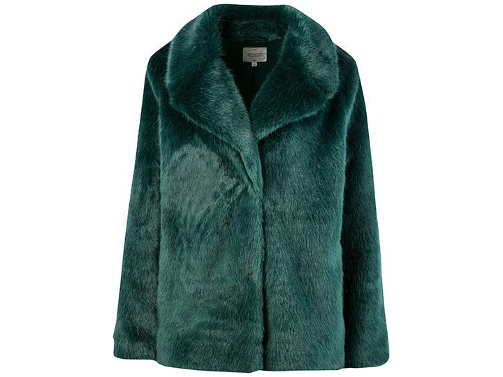 Groene faux fur jas