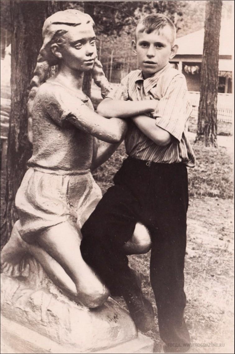 1950-е. Детский лагерь отдыха. Пруд «Юлово», Инзенский район, Ульяновская область